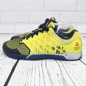 Reebok Crossfit 74 Yellow Sneakers Size 9
